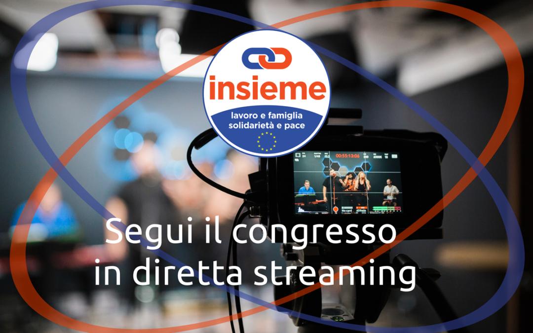Congresso Insieme diretta streaming